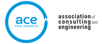 The logo for the Association of Consulting and Engineering New Zealand